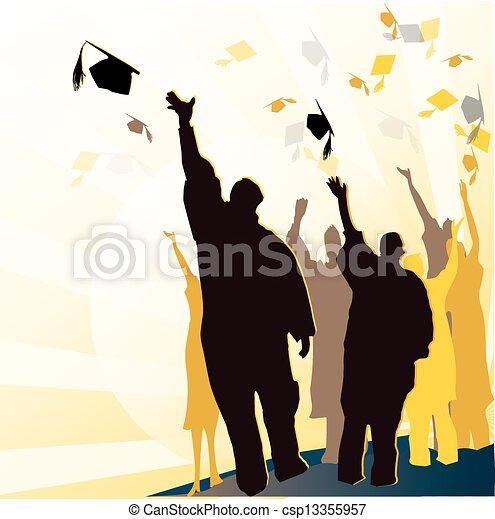 Mortal de graduación y diploma - csp13355957