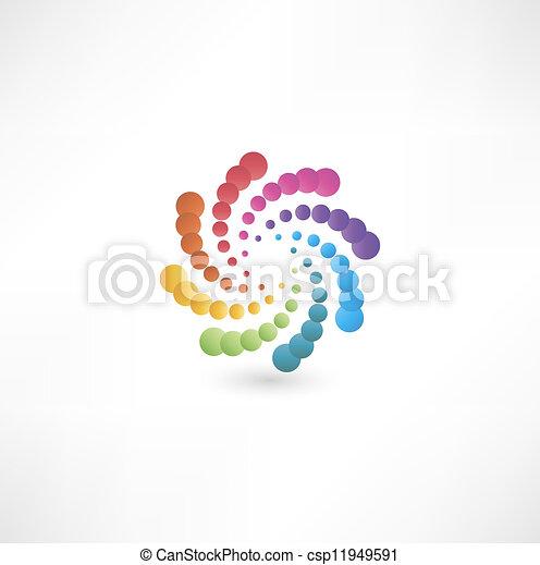 Diseñar elementos con movimiento espiral. - csp11949591