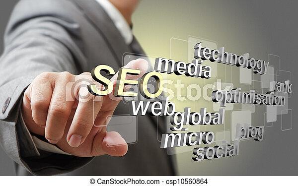 3d SEO optimización del motor de búsqueda como concepto - csp10560864