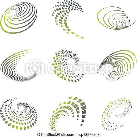Ola de símbolo de movimiento puesta - csp13878203