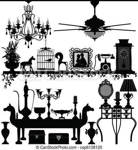 Muebles de decoración antigua - csp6138120