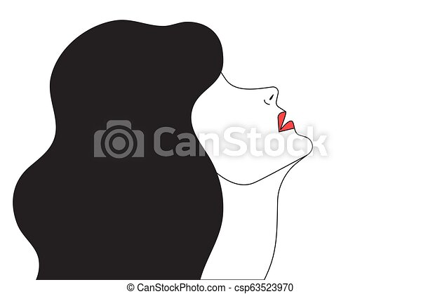 Mujer con cuello suave - csp63523970