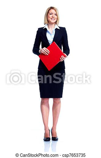 Mujer de negocios profesional. - csp7653735