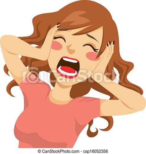 Mujer gritona desesperada - csp16052356
