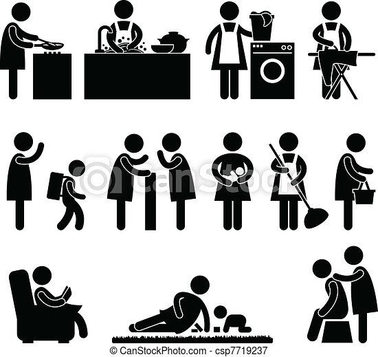 Mujer madre rutina diaria - csp7719237