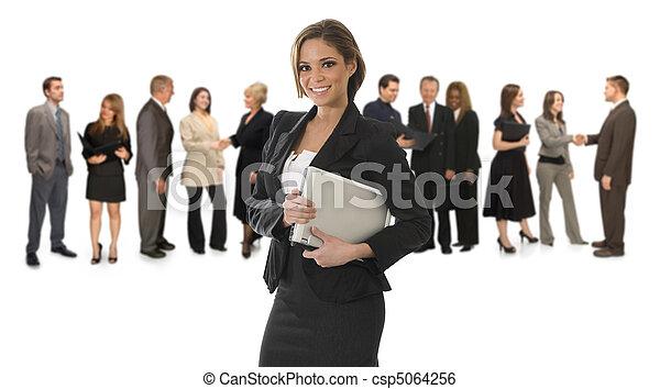 Mujer profesional de blanco - csp5064256