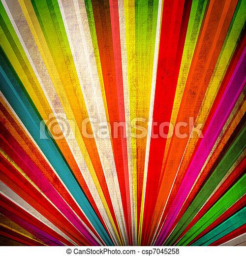 Multicolor Soleado de fondo grunge - csp7045258