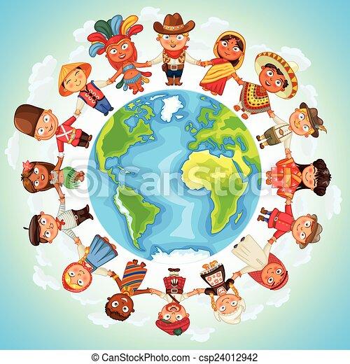 Personaje multicultural - csp24012942