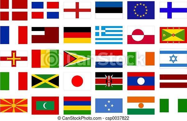 Banderas mundiales - csp0037822