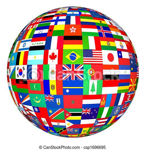 Banderas mundiales - csp1696695