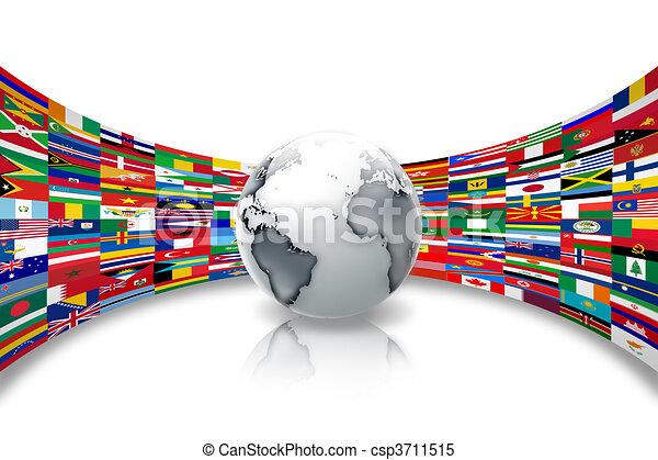Las banderas del mundo - csp3711515