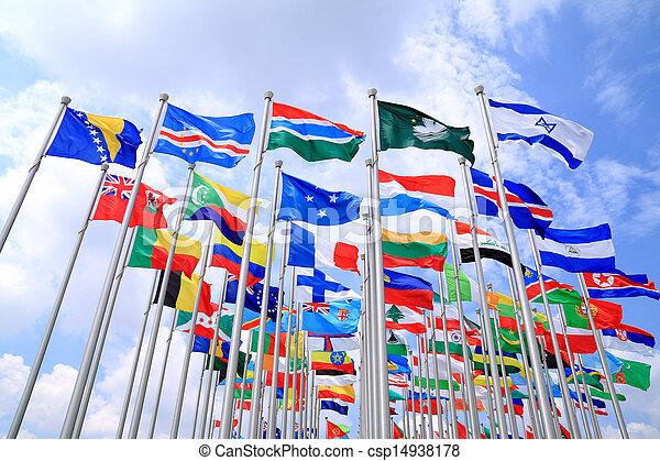 Las banderas nacionales del mundo - csp14938178