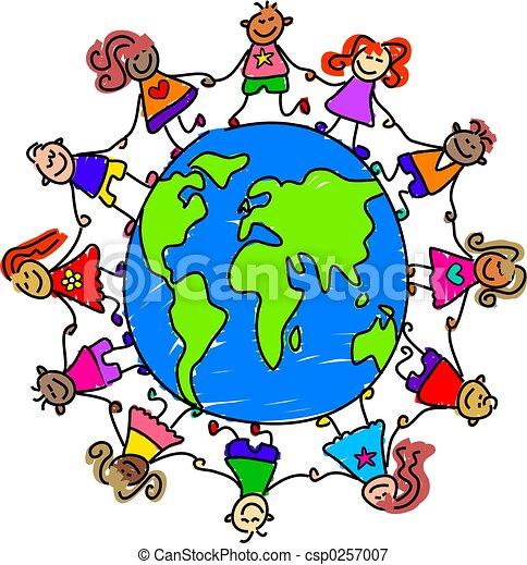 Niños del mundo - csp0257007