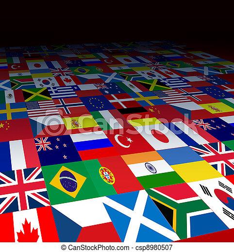 Banderas de fondo - csp8980507