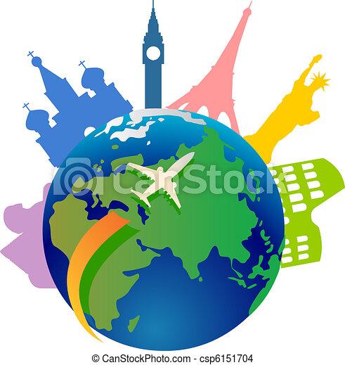 Viajando por el mundo - csp6151704