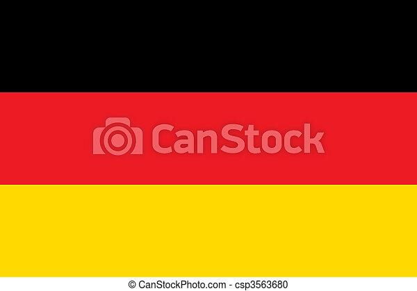 Alemania de la bandera nacional - csp3563680