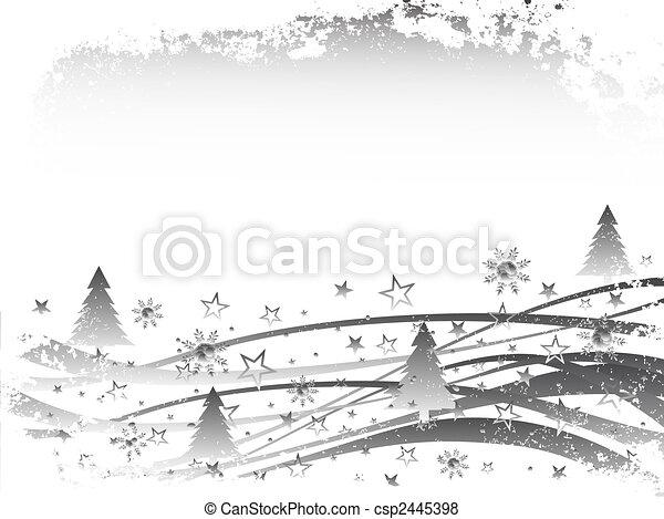 Navidad, escena de invierno - csp2445398