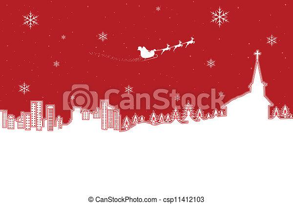 Un paisaje navideño - csp11412103