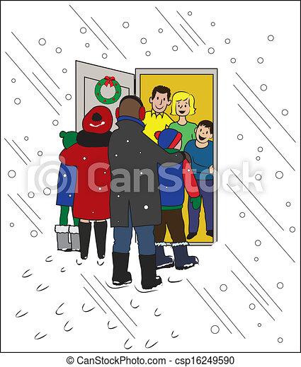 Una visita navideña - csp16249590