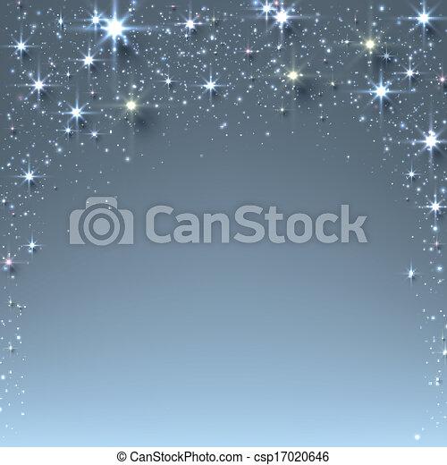 Navideño estrellado con chispas. - csp17020646