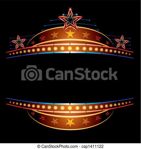 Neon con estrellas - csp1411122