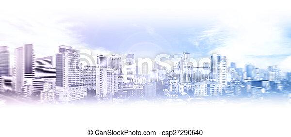 Trasfondo de la ciudad de negocios - csp27290640