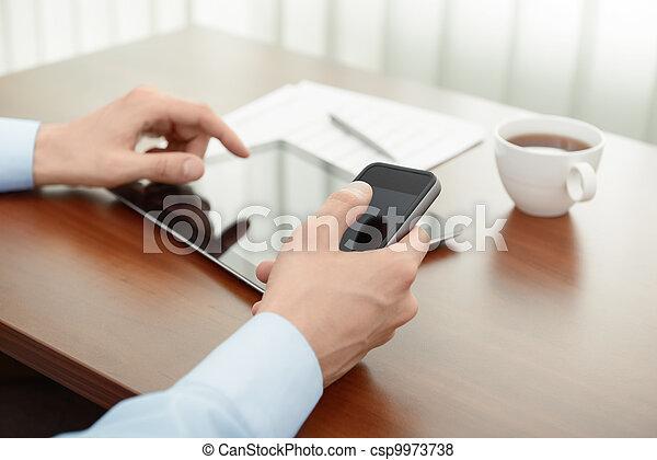 Negocios modernos - csp9973738