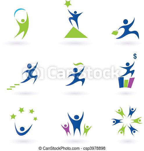 Negocios, iconos sociales y exitosos - csp3978898