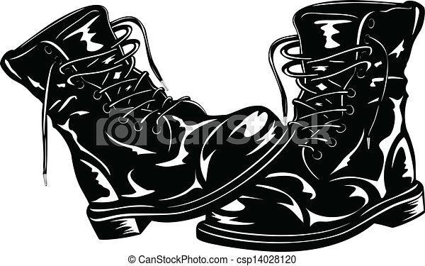 Botas negras del ejército - csp14028120