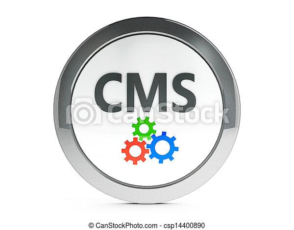 Un icono del CMS negro con lo mejor - csp14400890