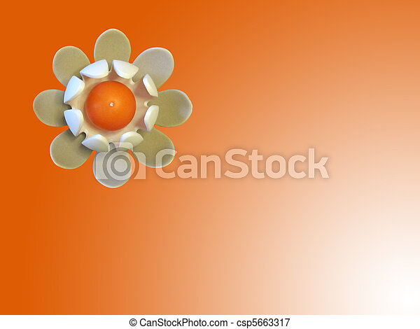 Una figura de nenufar con vela - csp5663317