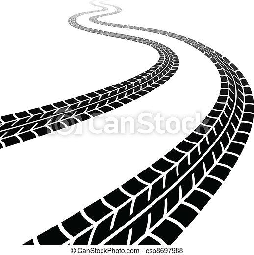 Rastreo del vector de los neumáticos - csp8697988