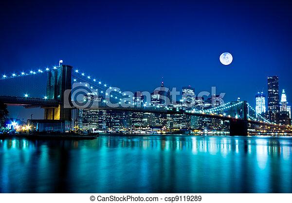New York City Bridgelyn - csp9119289