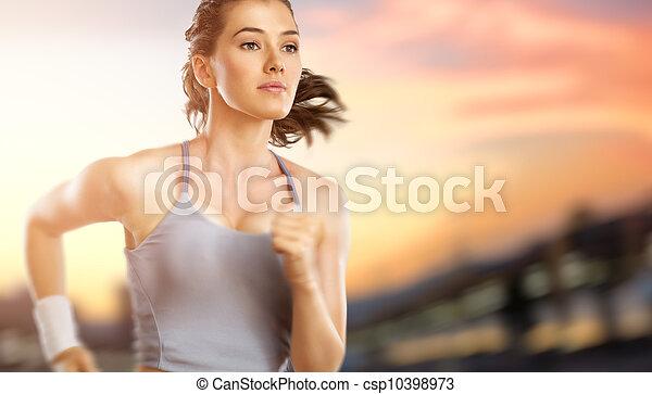 Chica en deporte - csp10398973
