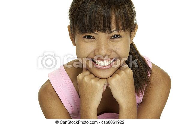 Chica feliz - csp0061922