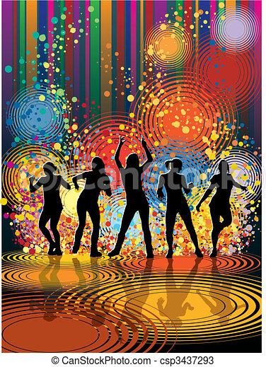 Chicas bailarinas - csp3437293