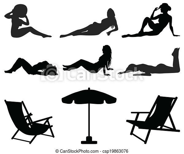 Chicas en la playa - csp19863076