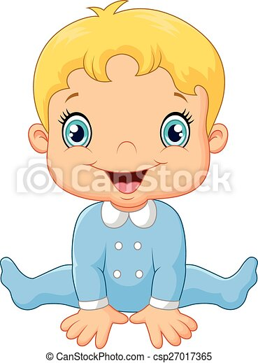 Niño feliz de dibujos animados - csp27017365