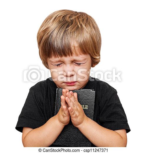 Niño rezando - csp11247371