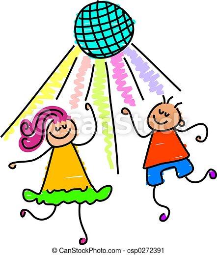 Niños bailando - csp0272391