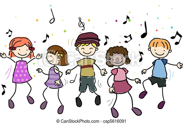Niños bailando - csp5616091