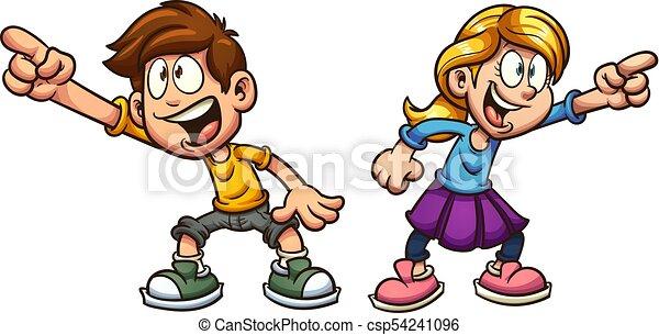 Niños de dibujos animados - csp54241096