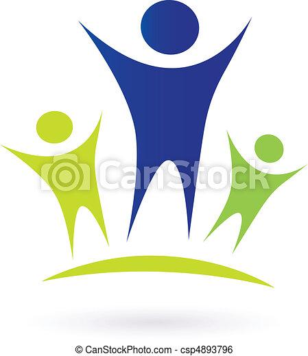 Comunidad, adultos y niños - csp4893796