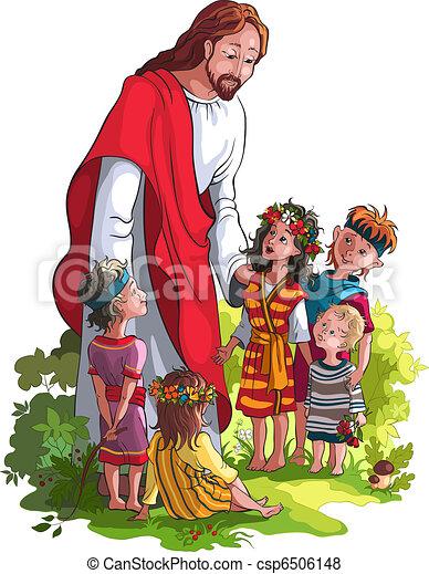 Jesús con niños - csp6506148