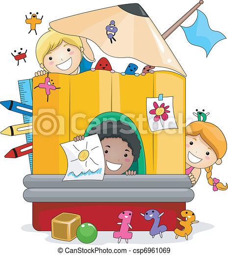 Niños de preescolar jugando - csp6961069