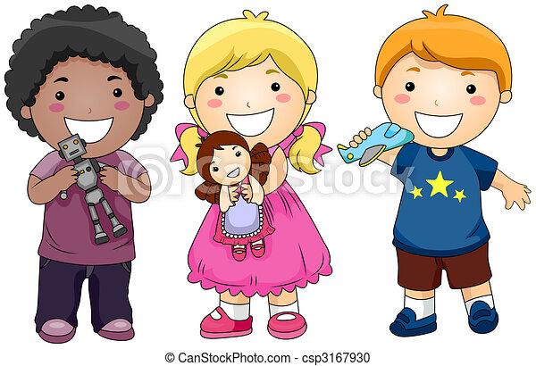 Niños con juguetes - csp3167930