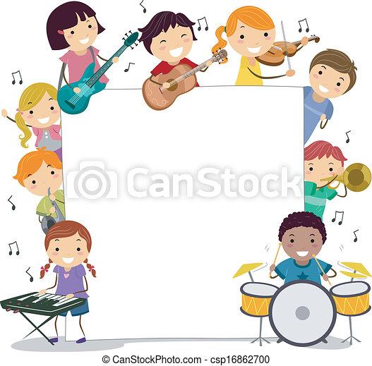 Niños musicales - csp16862700