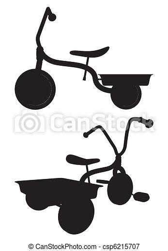 Niños triciclo - csp6215707