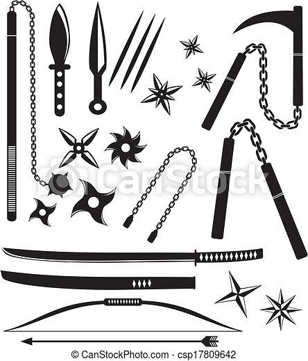 Armas ninja - csp17809642