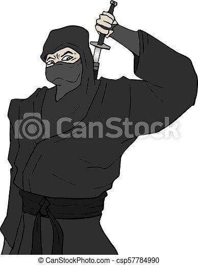 Ilustración ninja - csp57784990